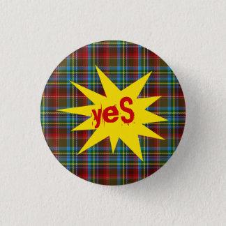 #indyref Tartan Punk Yes Scotland Pinback 1 Inch Round Button