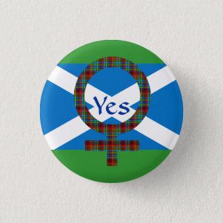 #indyref Women for Yes Scotland Pinback 1 Inch Round Button
