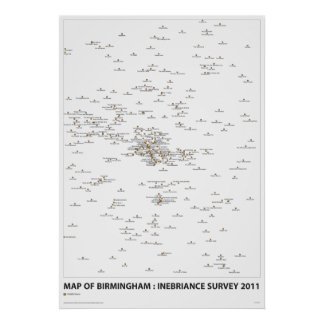 INEBRIANCE SURVEY Map Poster