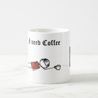 ineedcoffee, I need Coffee Coffee Mug
