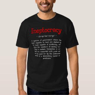 Ineptocracy Definition T-shirt (black)