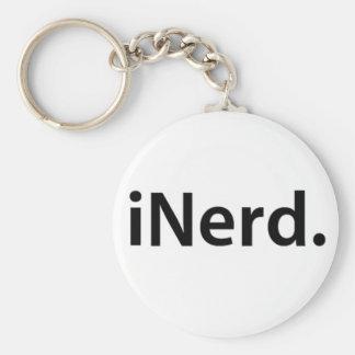 iNerd. Basic Round Button Keychain