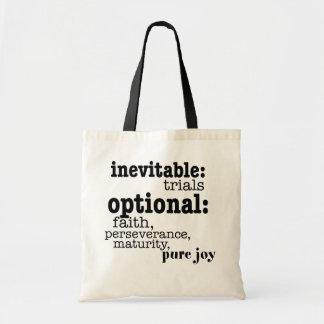 inevitable trials budget tote bag