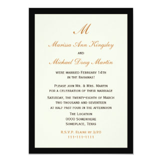 Inexpensive Budget Post Wedding Reception Card