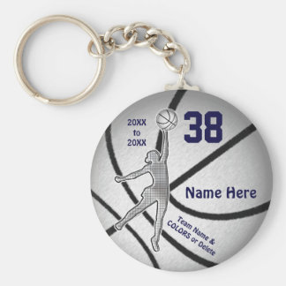 Inexpensive Girls Basketball Gifts, 4 Text Boxes Keychain