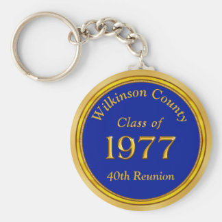 Inexpensive Personalized Class of 1977 Keychains