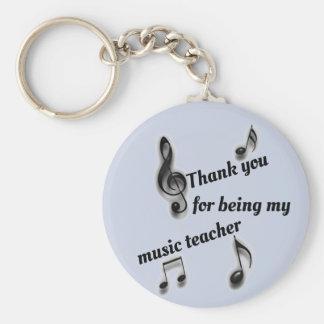 Inexpensive Thank You Music Teacher Appreciation Keychain