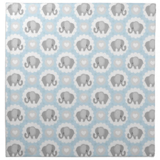Infant Baby Boy Blue Elephant Shower Gift Napkin