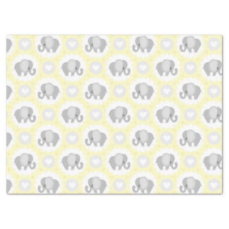 Infant Baby Neutral Yellow Elephant Shower Gift Tissue Paper