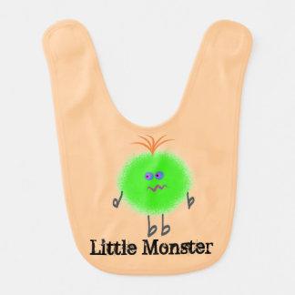 Infant Bib Green Fur Ball Little Monster