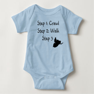 "Infant Boy (blue Crawl, Walk, Ride"" Baby Bodysuit"