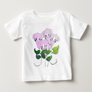 Infant Clothing with Lily Flower Art T-shirts