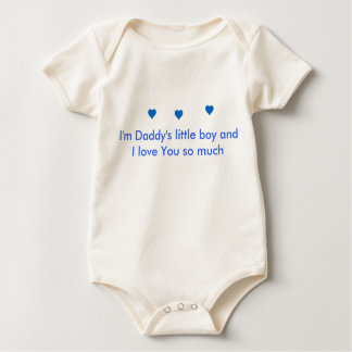 INFANT ~ Daddy's Little Boy Baby Bodysuit