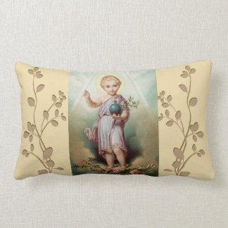 Infant Jesus holding the world Lumbar Pillow