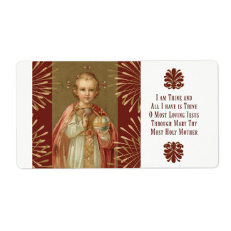 Infant Jesus of Prague Prayer Shipping Label