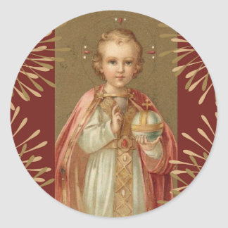 Infant Jesus of Prague Round Sticker