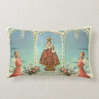 Infant Jesus of Prague w/angels Lumbar Pillow