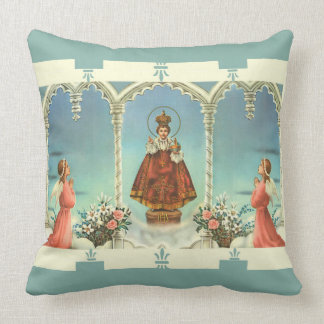 Infant Jesus of Prague w/angels Throw Pillow