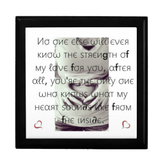 Infant Keepsake box/Heart and Quote Keepsake Boxes