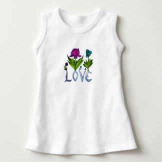 Infant Love Flower Cotton Dress