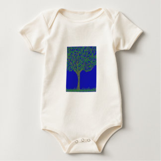 Infant Organic Creeper with Tree and Sky Design
