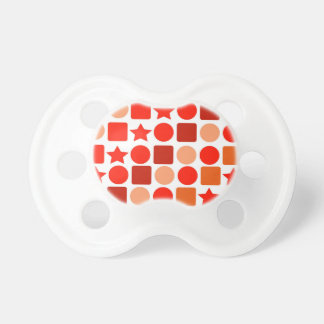 Infant Pacifier with Orange Geometrics