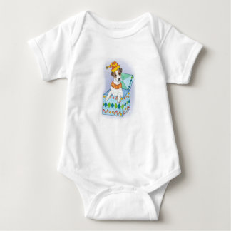 "Infant Romper ""Jack Russell In The Box"""
