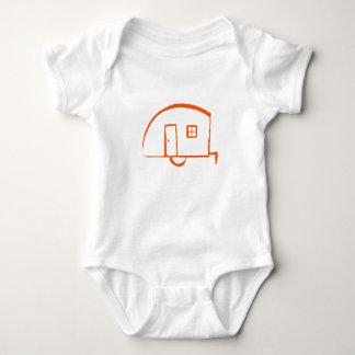 Infant T-shirt with vintage teardrop trailer