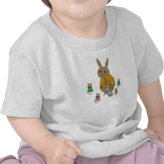 Infant Tee Shirt With Rabbits