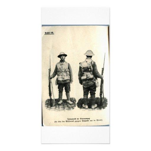 Infanterift im Sturmanzug Personalized Photo Card