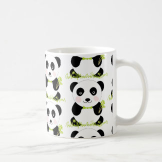 Infantile cup with bulging drawing of bear