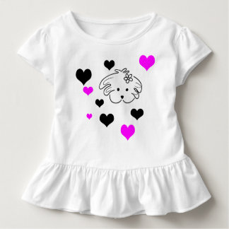Infantile t-shirt white color, the world of Lua