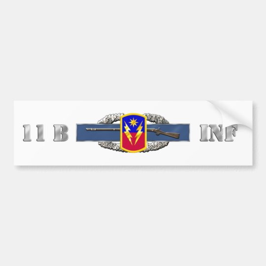 INFANTRY 11B 40th Infantry Brigade Combat T Bumper Sticker