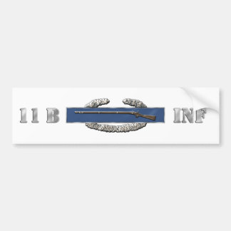 INFANTRY 11B BUMPER STICKER