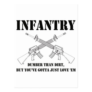 infantry - dumber than dirt postcard