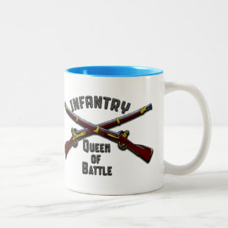 Infantry - Queen of Battle - Drinkware Two-Tone Coffee Mug