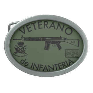 INFANTRY VETERAN OVAL BELT BUCKLE