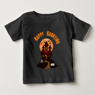 Infant's Black Happy Haunting Halloween Tshirt
