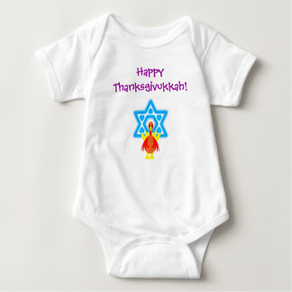 Infants Thanksgivukkah Funny Turkeys Tshirt