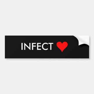INFECT HEART BUMPER STICKERS