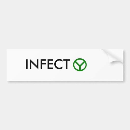 INFECT peace Bumper Stickers