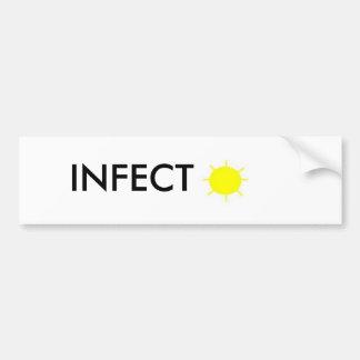 INFECT SUNSHINE BUMPER STICKER