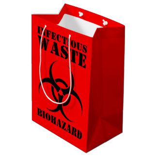Infectious Waste Biohazard Symbol Medium Gift Bag