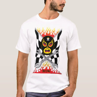 Inferno Luchador Mexican Wrestler Men's T-shirt
