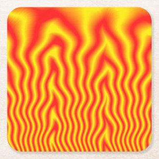 Inferno Square Paper Coaster