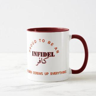 Infidel pride mug