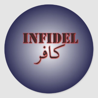 Infidel Round Sticker