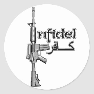 Infidels Classic Round Sticker
