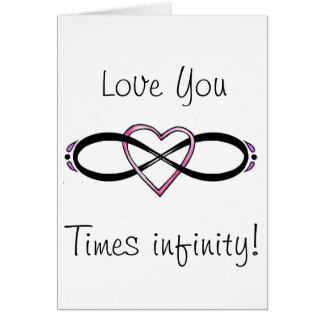 Infinate Love design Card