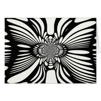 Infinite Abstract Monochromatic Illusion Card
